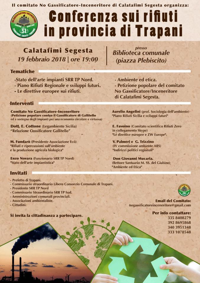 Conferenza sui rifiuti in provincia di trapani, Calatafimi Segesta
