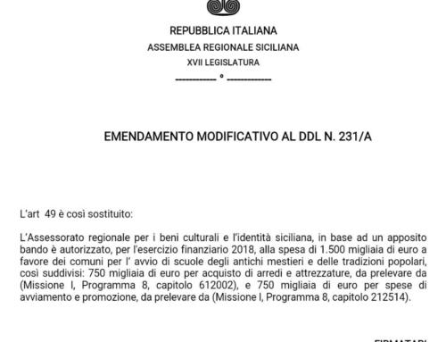 Finanziaria: un milione e mezzo di euro per scuole degli antichi mestieri e delle tradizioni popolari e 280 mila euro per l'Enoteca Regionale Siciliana