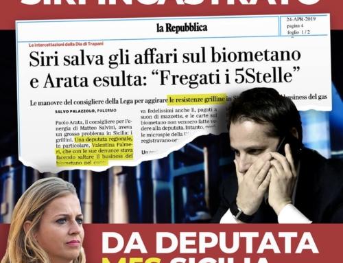 Intercettazioni della Dia di Trapani: Siri ha avuto un ruolo decisivo negli affari di Arata.