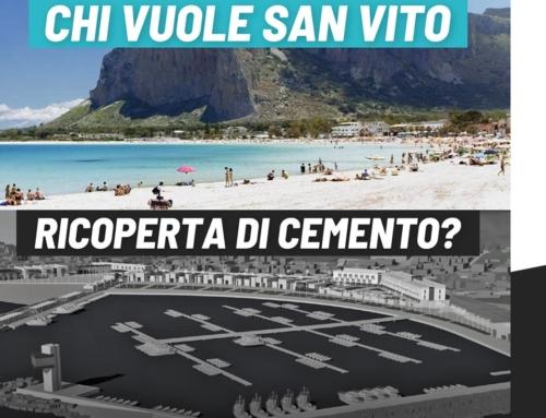 Barricate M5S contro la cementificazione della spiaggia di San Vito