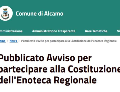Enoteca regionale Sicilia occidentale, riaperti termini per l'atto costitutivo