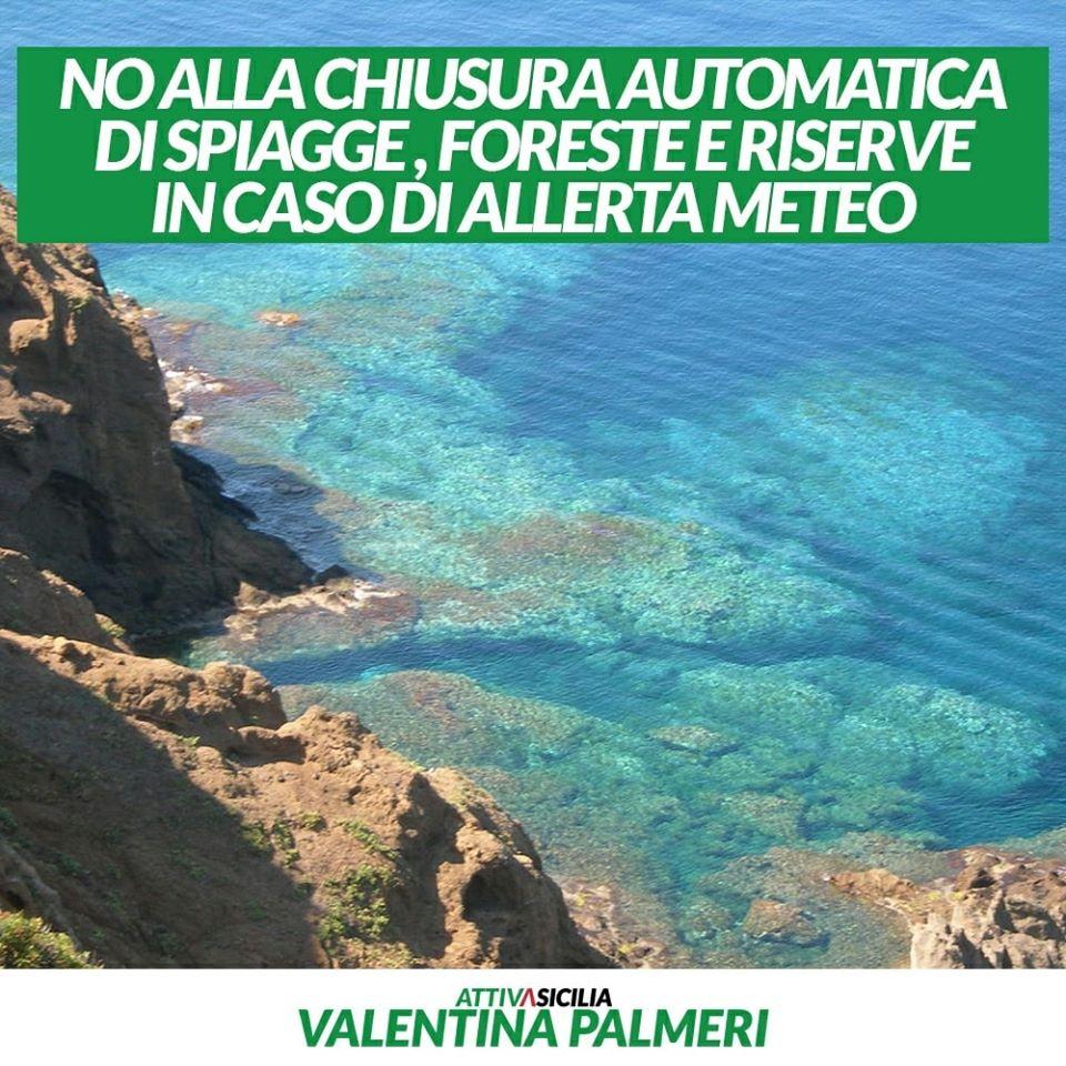 Ars. Approvato odg di Attiva Sicilia: NO spiagge e foreste chiuse con allerta meteo gialla