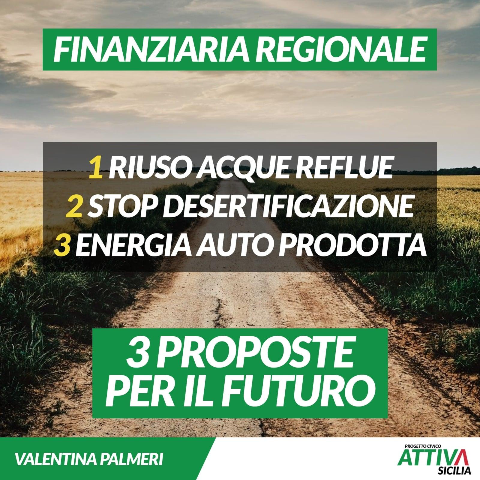 Finanziaria Regionale: Tre proposte per il futuro